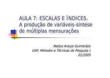 Escalas diferenciais - fflch - USP