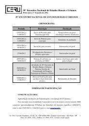 39° Encontro Nacional de Estudos Rurais e Urbanos - fflch - USP