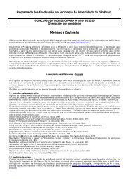 Programa de Pós-Graduação em Sociologia da ... - fflch - USP