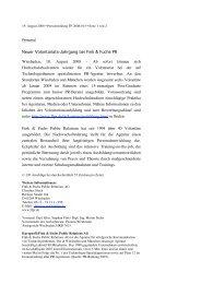 Neuer Volontariats-Jahrgang bei Fink & Fuchs PR ... - ffpress.net