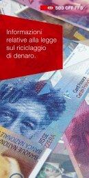 Informazioni relative alla legge sul riciclaggio di denaro. - FFS