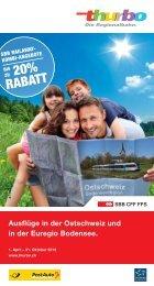 Freizeittipps Sommer 2013 - Ausflüge in der Ostschweiz und ... - SBB