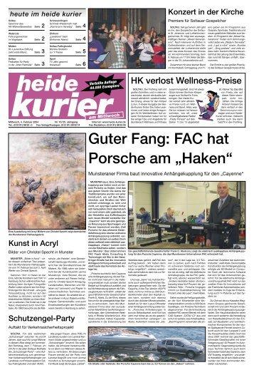 """Guter Fang: FAC hat Porsche  am """"Haken"""" - Heide Kurier"""