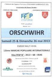 L'Amicale des Sapeurs Pompiers ORSCHWIHR ... - FFSP