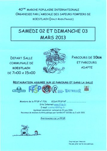 SAMEDI 02 ET DIMANCHE 03 MARS 2013 - FFSP