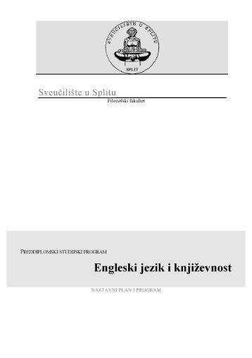Preddiplomski studij - Filozofski fakultet u Splitu
