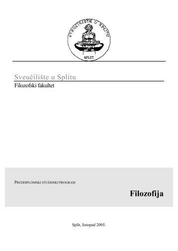 Filozofija - Filozofski fakultet u Splitu