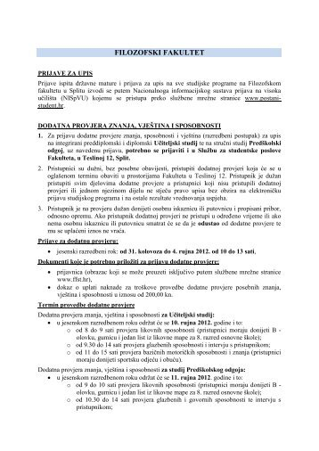 Filozofski fakultet u Splitu