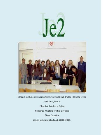 Je2 - Filozofski fakultet u Splitu
