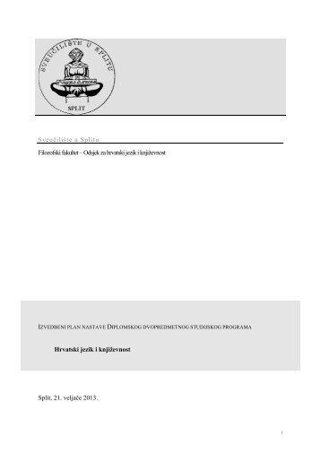Diplomski studij - Filozofski fakultet u Splitu