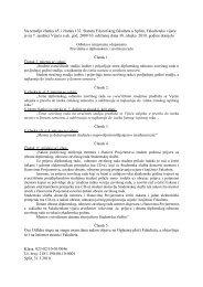 Odluku o izmjenama i dopunama Pravilnika o diplomskom