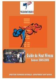 - Guide du Haut Niveau – Saison 2005/2006 - fftda