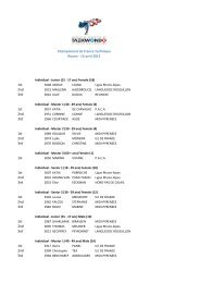 Championnats de France technique - Artistique - fftda