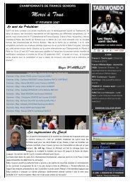 CHAMPIONNATS DE FRANCE SENIORS 17 FEVRIER 2007 - fftda