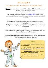 le Guide d'utilisation licence web - Olympique Grenoble Taekwondo