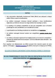 Liste des convoqués Arbitres Nationaux saison 2012/2013 - fftda
