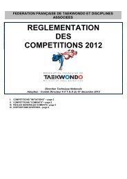 Règlement des compétitions - fftda