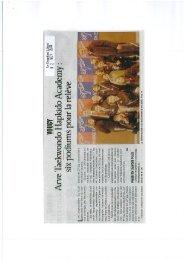 Votre Revue de Presse du 31/10/11 au 13/11/11 - fftda