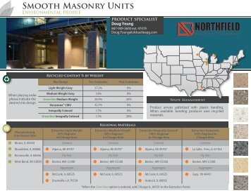 Smooth Masonry Units - Northfield Block