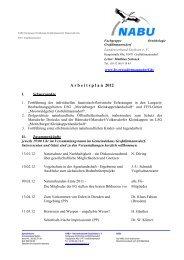 A r b e i t s p l a n  2012 - NABU-Fachgruppe Ornithologie ...