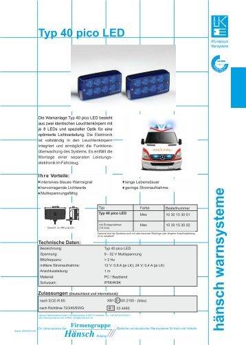 Produktinformation Sputnik pico LED - Hänsch