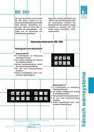 Produktinformation BE 300 - Hänsch