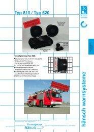 Produktinformation Tonfolgeanlage 620 - Hänsch