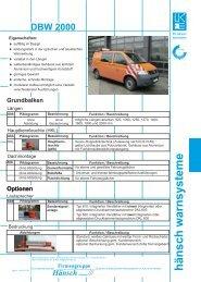 Produktinformation DBW 2000 - Hänsch