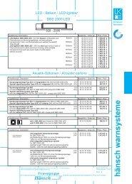 Preisinformation DBS 2000 LED - Hänsch