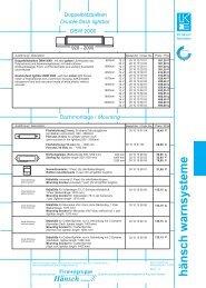 Preisinformation DBW 2000 / DBS 2000 Doppelblitz - Hänsch
