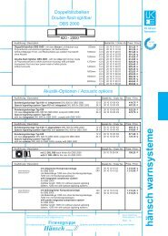 Preisinformation DBS 2000 - Hänsch