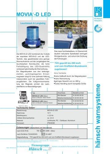 Produktinformation MOVIA-D LED