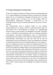 Bericht zur Fachgruppentagung in Halle (26. bis 28. September 2005)