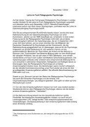 Newsletter 1/2002 20 Lehre im Fach Pädagogische Psychologie Auf ...