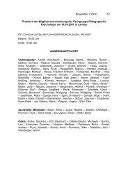 Protokoll der letzten Mitgliederversammlung in Landau am 18.9.2002