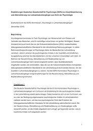 Empfehlungen zur Qualitätssicherung in Lehramtsstudiengängen