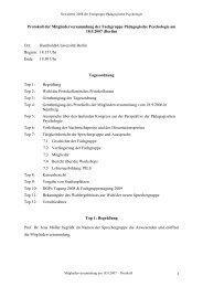 Protokoll der Mitgliederversammlung - Fachgruppe Pädagogische ...