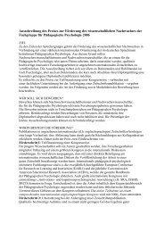Ausschreibung des Nachwuchspreises 2006 - Fachgruppe ...