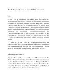 Ausschreibung des Nachwuchspreises - Fachgruppe Pädagogische ...