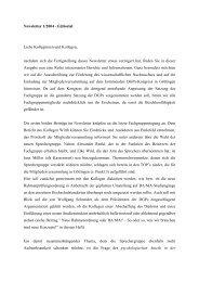 Newsletter 1/2004 - Editorial Liebe Kolleginnen und Kollegen ...