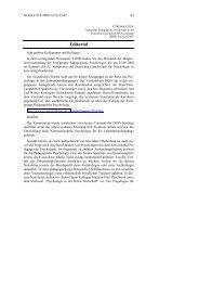 Editorial - Fachgruppe Pädagogische Psychologie