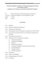 Protokoll der Mitgliederversammlung am 18.09.2006 in Nürnberg