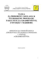gradbeništvo - Fakulteta za gradbeništvo - Univerza v Mariboru