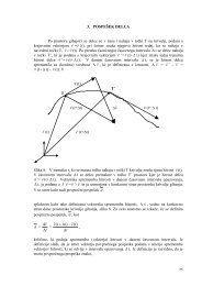 3. POSPEŠEK DELCA Po prostoru gibajoči se delec se v času t ...