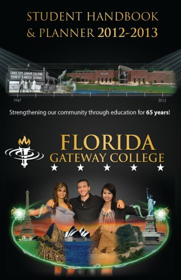 Student Handbook 2012-2013 1 - Florida Gateway College