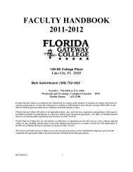 Faculty Handbook - Florida Gateway College