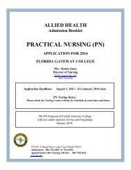 LPN Application Packet - Florida Gateway College