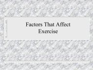 Factors that affect exercise (PP)