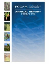 FGC Annual Report 2005 / 2006 - Forest Genetics Council of British ...