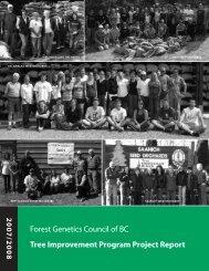 Tree Improvement Program Project Report 2007 / 2008